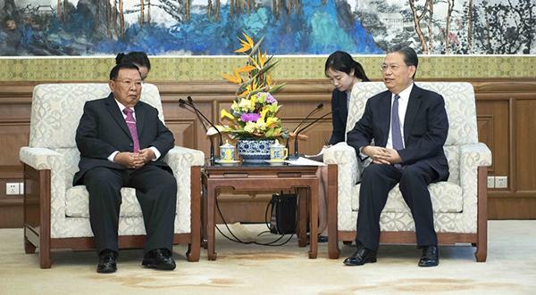 赵乐际会见老挝人民革命党中央总书记、国家主席本扬_副本.jpg